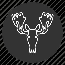 avatar, elk, head, horns, moose, power, wild animal icon