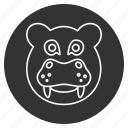animal, avatar, head, hipopotamo, hippo, hippopotamus, jungle icon