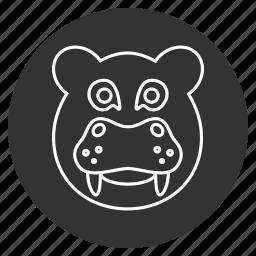 animal, avatar, head, hipopotamo, hippo, hippopotamus, jungle icon
