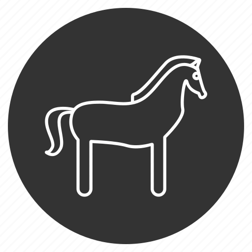 animal, courser, horse, hoss, mustang, pony, steed icon