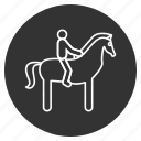 cavalier, equestrian, horse, horseman, knight, ride, rider icon