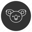 animal creative, avatar, dreaming, face, koala bear, sleep, smiley icon