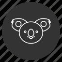 animal creative, avatar, dreaming, face, koala bear, sleep, smiley icon