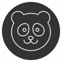 animal, bamboo bear, cute, face, funny, panda, smile icon