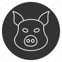hog, pig, piggy, pork, snout, sow, swine icon
