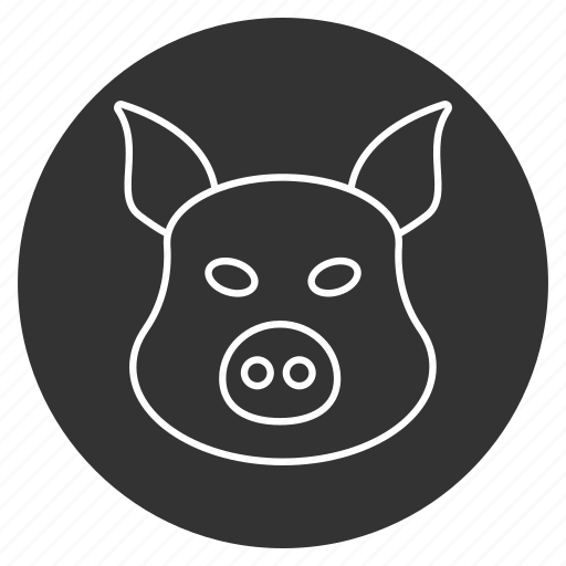 hog, pig, piggy, pork, snout, sow, swine icon