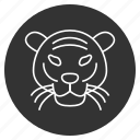 avatar, hunger, jungle, predator, stripes, tiger face, wild animal icon