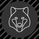 dog, evil, jaws, predator, snout, werewolf, wolf icon
