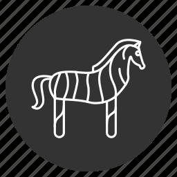 animal, cute, horse, pony, safari, zebra, zoo icon