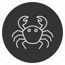 arthropod, claw, crab louse, crabmeat, grouch, sea food, seafood icon