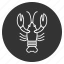cancer, crab, crawfish, crayfish, lobster, sea food, seafood icon