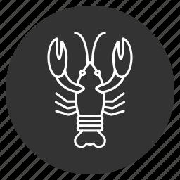 cancer, crab, crawfish, crayfish, lobster, sea food, seafood icon