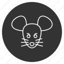 animal snout, avatar, mouse, profile, rodent, wild, wildlife icon