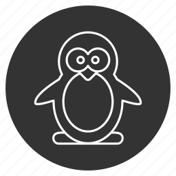 animal, beak, bird, cold, cute, nature, penguin icon