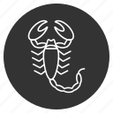 astrology, danger, horoscope, insect, scorpio, scorpion, zodiac icon