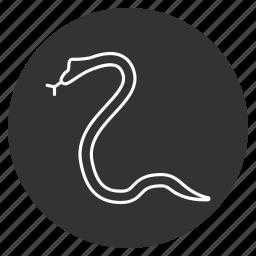 danger, poisonous, reptile, reptilian, snake, wild, wildlife icon