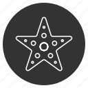asteroid, five-finger, sea star, seaside, starfish, tropical, underwater icon