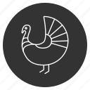 bird, chicken, farm, food, thanksgiving, traditional, turkey icon