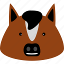 animal, dobbin, equine, horse, hoss, nag, pony icon