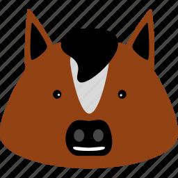 animal, dobbin, equine, horse, hoss, nag, pony icon