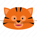 animal, animals, cat, kitty, stripes, tiger, zoo icon
