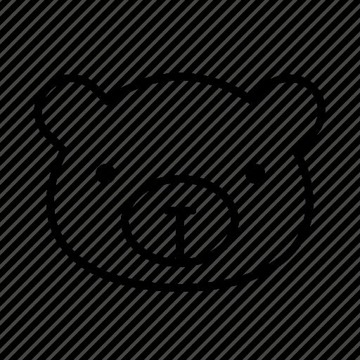 animal, bear, bear face, big bear, black bear icon