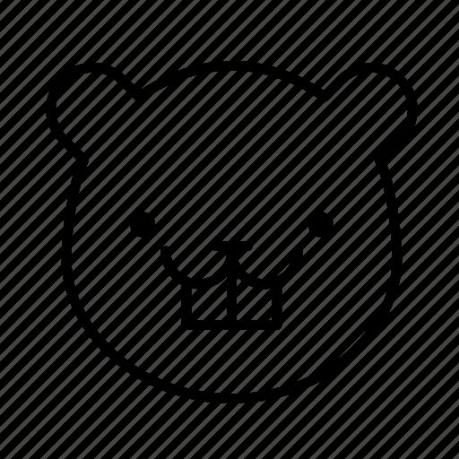 animal, animal face, beaver, beaver face, mammal icon