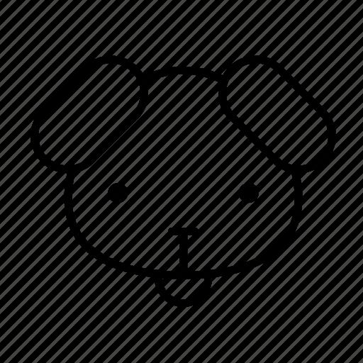 animal, dog, dog face, pet, puppy icon