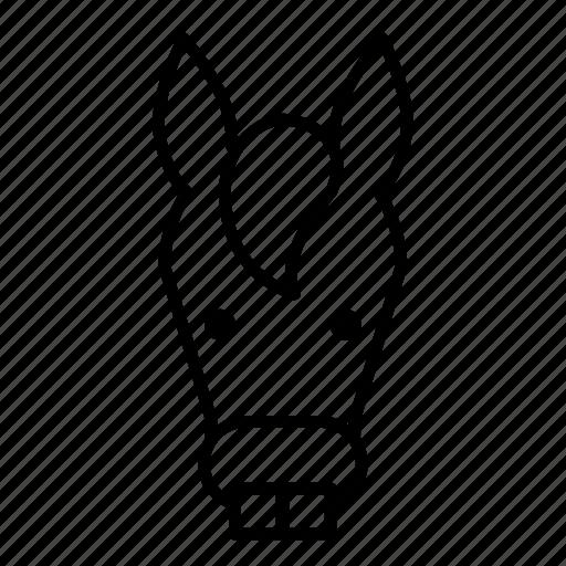 animal, donkey, donkey face, horse, jackass icon