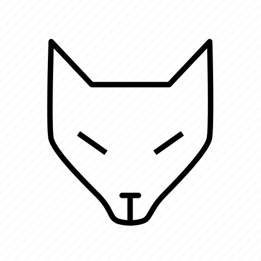 animal, fox, fox head, wild animal, wolf icon