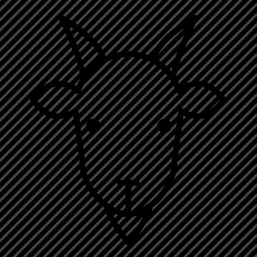 animal, goat, goat face, mammal, ram animal icon