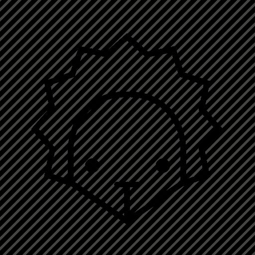animal, hedgehog, hedgehog face, pet, porcupine icon