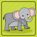 animal, animals, baby, child, color, elephant, kid, kids, pet, toy, zoo icon