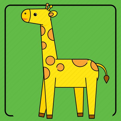 animal, animals, baby, child, color, giraffe, kid, kids, pet, toy, zoo icon
