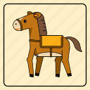 animal, baby, color, horse, kids, toy, zoo icon