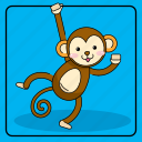 animal, animals, baby, child, color, kid, kids, monkey, pet, toy, zoo icon