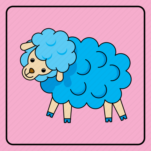 animal, animals, baby, child, color, kid, kids, pet, sheep, toy, zoo icon