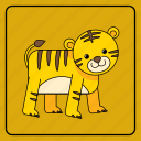 animal, animals, baby, child, color, kid, kids, pet, tiger, toy, zoo icon