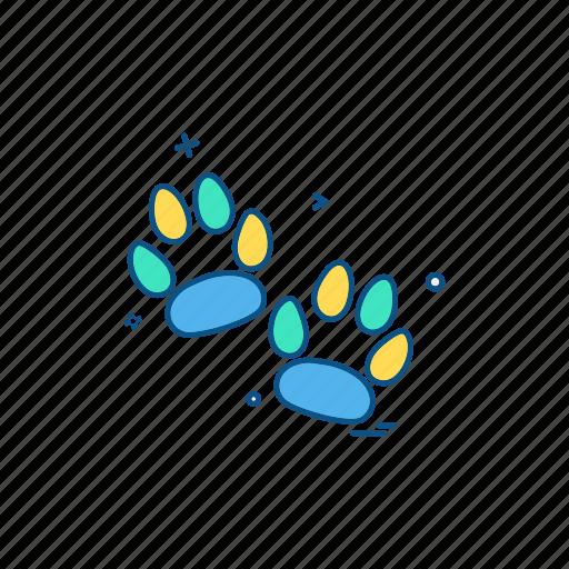 animal, claws, paws, wildlife icon