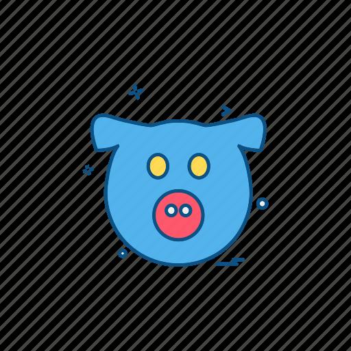 animal, pig, piggy, wildlife icon