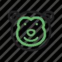 animals, chimpanzee, face, jump, monkey, safari, wildlife icon