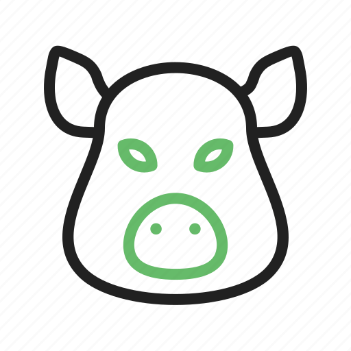 animal, big, face, jungle, mammal, pig, rural icon