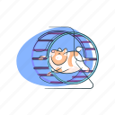 animal, hamster, pet, rodent, wheel icon