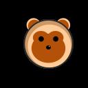 animalia, cute monkey, herbivora, monkey, zoo icon