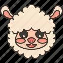 alpaca, livestock, llama, mammal, wool icon