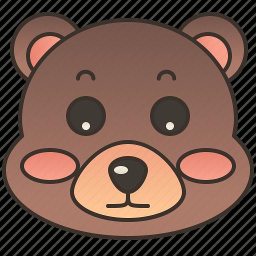 animal, bear, grizzly, mammal, wild icon