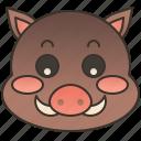 beast, boar, mammal, pig, wildlife icon
