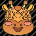 africa, giraffe, herbivore, safari, wildlife icon