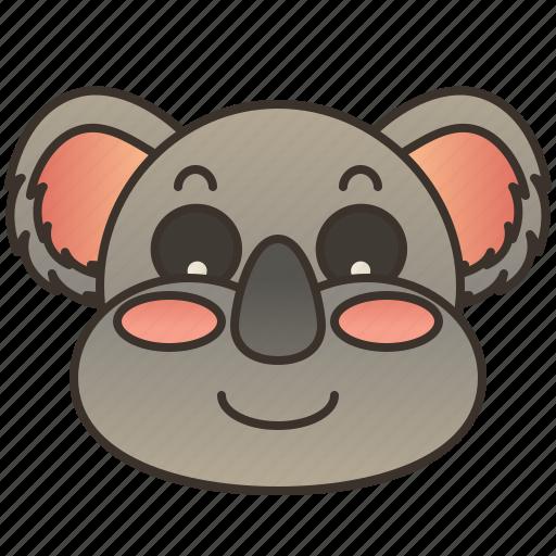 herbivorous, koala, mammal, marsupial, wildlife icon