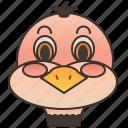 animal, bird, flightless, ostrich, wildlife icon